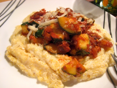 Shrimp Saute with Cheesy Grits